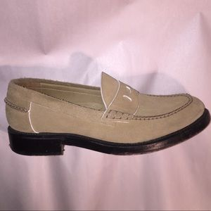 auth LOEWE size 43 Tan Suede LOAFERS Italy $850